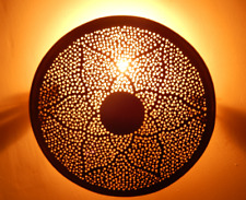 Moroccan Wall Lamp, Designer Wall Sconce, Brass Light Fixture, New Home Decor