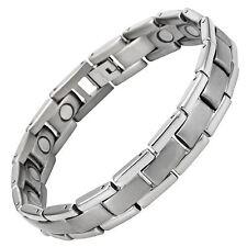 Willis Judd Mens Titanium Magnetic Golf Bracelet Free Adjuster and Gift Box