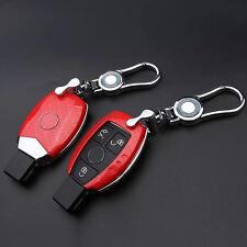 Carbon Fiber Red Key Cover for Mercedes Benz W203 W211 CLK C180 E200 AMG C E S