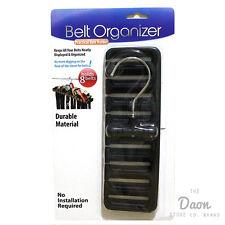 Belt Necktie Organizer Closet Hanger Holder Holds 8 Belts NEW No Installation