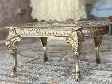 Antique Miniature Dollhouse 1:24 Scale French Sterling Silver Table Hallmarked