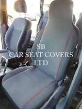 i - TO FIT A TOYOTA STARLET CAR, SEAT COVERS, GREY/RED PIPING, 2 FRONTS