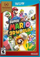 NEW Super Mario 3D World  (Nintendo Wii U, 2013) Selects Cover
