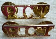Staybrite Royal Corps of Transport Shoulder Title Badge RCT Title Anodised PAIR