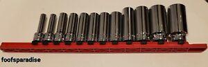 NOS Facom SK 12pcs OGV Metric Deep 3/8 Drive sockets
