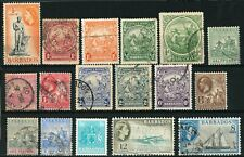 LOT OF BARBADOS OLD STAMPS - USED/SOME UNUSED