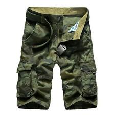 Mens Shorts Breeches Army Combat Camo Camouflage Sports Short Pants Trousers