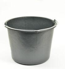 Eimer Kunststoff schwarz 20 Liter, Ø 37 x 27 cm