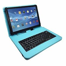 "9.7"" Qwerty Bluetooth Keyboard Case For Samsung Galaxy Tab S3  - Turquoise"