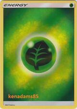 Pokemon SM Shining Legends / Dragon Majesty Grass Energy Card (REVERSE HOLO)