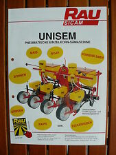 RAU Sicam UNISEM - Einzelkorn-Sämaschine - Prospekt Brochure 11.1991 (0495