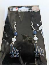 Los Angeles Dodgers MLB Dangle Earrings, Baseball Jewelry