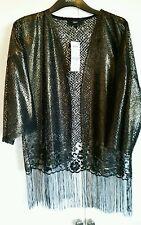 Ladies next black gold metallic jacket 13.00 size 14 orig 32.00