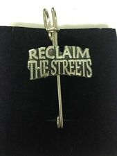 """Reclaim The Streets N4 Scarf , Brooch and Kilt Pin Pewter 3""""  7.5 cm"""