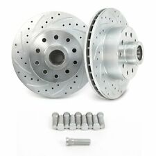 """Ford Mustang II 11"""" Front Big Disc Brake Slotted Rotors 5 x 4.75 Chevy PAIR"""