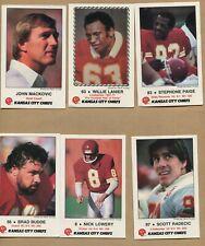 1986, Kansas City Chiefs, 10 Card Set, Police, Frito Lay, 16522