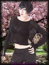 Gothic taillenlange Damenblusen, - tops & -shirts aus Baumwolle