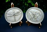 NEW Set #2 House Parts Entomology Series  INSECT Wall Plaques Nickel Finish