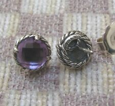 """NEW DAVID YURMAN """"CHATELAINE COLLECTION"""" EARRINGS WITH AMETHYST (retail $395)"""