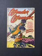 Wonder Woman #56 - Golden Age - Dragster Racing Cover -