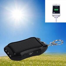 Mini 5V 1500mAh Solar Power Supply Energy Bank USB Charger Battery Keychain