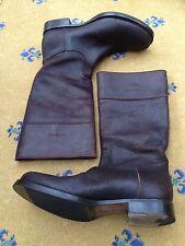 Miu Miu By Prada Men's Brown Leather Tall Boots UK 9 US 10 EU 43