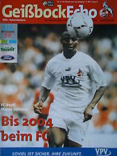 Programm 2000/01 1. FC Köln - Kaiserslautern