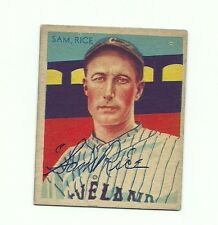 SIGNED Sam Rice HOF 1934-36 Diamond Stars # 32 deceased 1974
