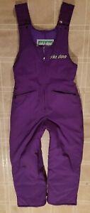 VTG Women's Ski Doo Bombardier Snow Suit Bibs Pants Size Medium, rare purple!