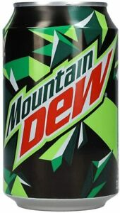 Mountain Dew US Style Soda (Made In EU): Pack of 24 Cans @ 330ML (04/2021)