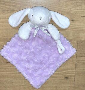 Blankets Beyond Bunny Rabbit Purple Minky Swirl Fleece Baby Lovey Binky Blanket