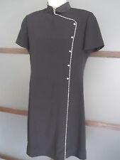 Evan Picone Dress Sz 10 Asian in Style Rhinestone Details Knee Length High Neck