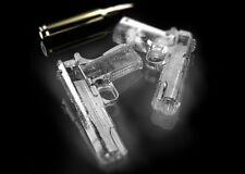 Handgun Ice Cube Tray Novelty Silicone Mold Automatic Gun Shape Freezer Gift New