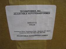 TECHNIPOWER ADJUSTABLE AUTO VARIAC TRANSFORMER W5LM NSN: 5950-00-242-4865