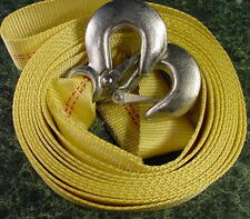 2 inch by 20 Foot TOW STRAP w/ 2 HOOKS 10,000 Lb. Capacity rope cable new pound