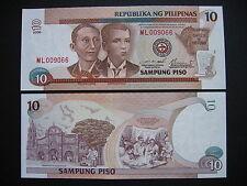 PHILIPPINES  10 Piso 2000  (P187f)  UNC
