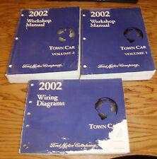 2002 Lincoln Town Car Shop Service Manual 1 & 2 + Wiring Diagram Set 02