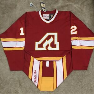 Mitchell & Ness Authentic Atlanta Flames Tom Lysiak NHL Hockey Jersey Red 52