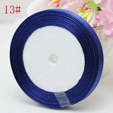 "Free Shipping wedding festival 25 Yards 3/8"" 10mm Craft Satin Ribbon Deep blue"
