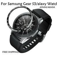 For Samsung Galaxy Watch 46MM Bezel Ring Adhesive Cover Anti Scratch Metal Case