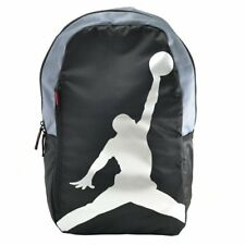 NIKE Air Jordan Jumpman Laptop Sleeve Backpack School Bag ,Black x White x Grey