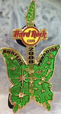 Hard Rock Cafe SURFERS PARADISE 2008 Australia Day BUTTERFLY GUITAR PIN #43818