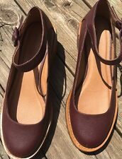 Cooperative Urban Outfitters Mary Jane Shoes Sz 9 M-Maroon Brown