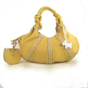 Radley  Bag Yellow Archive Handle Slip Pockets Grab Bag  BN Tag