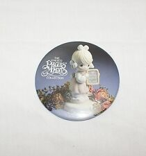 Precious Moments Button Pinback Sharing Begins in the Heart Collectible Pin