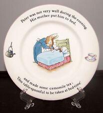 "Wedgwood Etruria Barlaston Eng. Peter Rabbit 6 7/8"" Bread Butter Child Plate EXC"