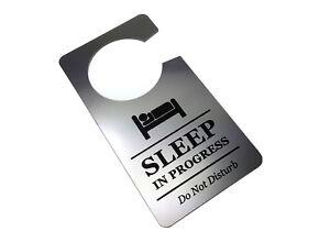 Sleep In Progress Nightshift Bedtime Do Not Disturb Door Hanger Sign