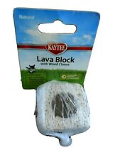 Kaytee Natural Lava Block with Wood chew. Chinchillas & other small animals.
