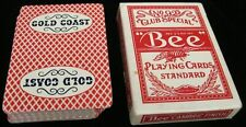 GOLD COAST CASINO PLAYING CARDS NO. 92 CLUB SPECIAL RED BACK BY BEE DIAMOND BACK