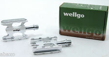 WELLGO WR-1 WR1 SUPERLITE BICYCLE PEDALS C006 SILVER Ships from USA